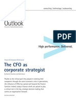 Accenture Outlook CFO as Corporate Strategist Finance