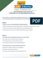 8Curso Preparatório para Exame de Certificação de Correspondentes Bancários_SIMULADO - 50 QUESTÕES