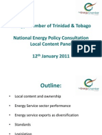 Energy Chamber Trinidad and Tobago _Local Content Panel