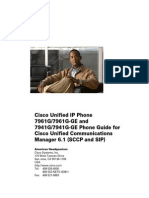 Cisco Unified IP Phone 7961G 7961G-GE and 7941G 7941G-GE Phone Guide and Quick Reference for Cisco Unified Communications Manager 6.1 (SCCP and SIP)