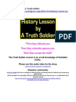 History Lesson by A Truth Soldier