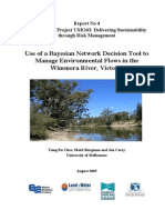 Use of a Bayesian Network Decision Tool to Mgt Environ Flow in River