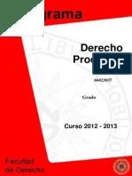 Derecho Procesal I Programa 2013