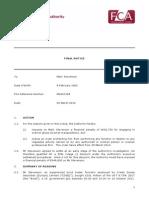 Final Notice FCA Mark Stevenson