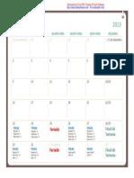 Calendário Final de Ano