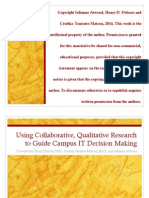 Using Collaborative, Qualitative Research to Guide Campus IT Decision Making (213511594)