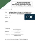 TP0314 -pso- Coliformes totales y E. coli en agua, método filtración por membrana