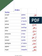 350 Common Arabic Verbs
