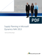 Supply Planning in Microsoft Dynamics NAV 2013