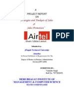 """""""Strategies and Analysis of Sales - airtel"""
