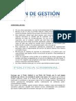 Dr Del Rio Victor Emilio Explicacion de Plan de Gestion Judicial