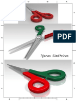 tijeras simétricas