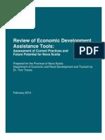 Review of Economic Development Assistance Tools in Nova Scotia