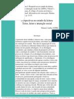 Perspectivas no estudo da leitura _ texto, leitor e interação social
