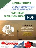 Edmonton, May 6 CLEAN AIR FLASH MOB Site