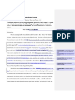 example of a student essay with annotations