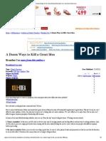 A Dozen Ways to Kill a Great Idea by Brandon Cox -SermonCentral