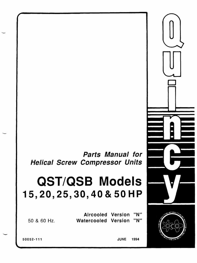 QSI & QSB, 15, 20, 25, 30, 40, & 50 Hp Version N Parts