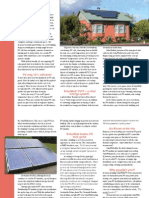 SolarWall - PV / Thermal Brochure (solar air heating and PV electricity co-generation) renewable green technology