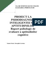 Proiect - psihodiagnoza aptitudinilor