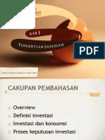 Portofolio & Investasi Bab 1 - Pengertian Investasi