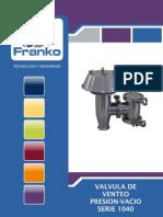 Válvula De Alivio De Presión Y Vacío sanitaria FRANKO