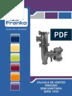 Valvula de alivio de presion y vacio FRANKO con venteo dirigido