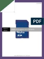 MMC SD Card Interfacing and FAT16 Filesystem