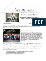 March Prayer Letter 2014