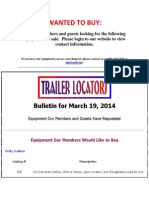 Wanted To Buy - March 19, 2014