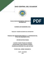 """""""ANÁLISIS Y DISEÑO DE MUROS DE CONTENCIÓN"""""""