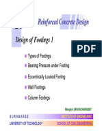 Design of Reinforced Concrete Footings