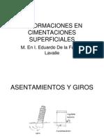 Deformaciones en Cimentaciones Superficiales