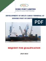 Ennore Port RFQ