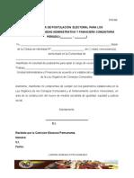 FUN 006. Planilla de Postulacion Unidad Financiera