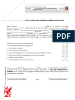 TUR 001. Planilla de Solicitud de Registro Taquilla Unica
