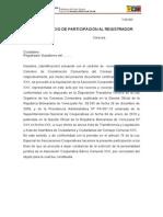 TUR 003. Participacion Al Registrador