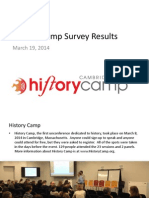 History Camp Survey Results