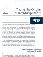 Tracing the Origins of Interdisciplinarity-Repko 2008