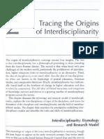 Tracing the Origins of Interdisciplinarity-Repko 2008