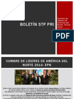 Boletín 20 STP Cumbre de Líderes de América del Norte