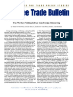 Why We Have Nothing to Fear from Foreign Outsourcing, Cato Free Trade Bulletin No. 10