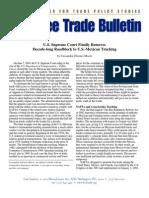 U.S. Supreme Court Finally Removes Decade-long Roadblock to U.S.-Mexican Trucking, Cato Free Trade Bulletin No. 13