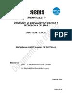 6.2.8.31.1 Programa Institucional de Tutorias