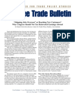 """""""Shipping Jobs Overseas"""" or Reaching New Customers? Why Congress Should Not Tax Reinvested ..., Cato Free Trade Bulletin No. 36"""