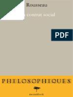 (Elivre) Rousseau Jean-Jacques - Du Contrat Social Ou Principes Du Droit Politique