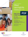 Gifted LearningLinks High School Credit Course Catalog 2013-2014