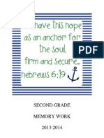 Memory Work 2013-2014 2nd Grade