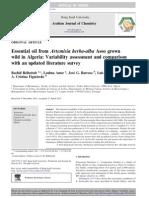 Artemisia - Essential Oil From Artemisia Herba-Alba Asso Grown Wild in Algeria