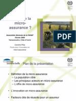 20090212 Micro Assurance Caroline Phily
